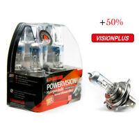 2 X H4 Pere P43t Alogena Auto Lampade 60/55W Visione Plus 12V