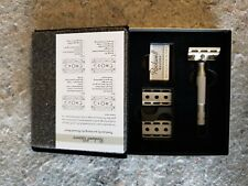 Rockwell 6S Adjustable Stainless Steel Safety Razor Kit in Leather Gift Box Case