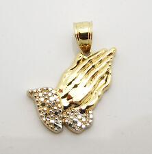 10k Yellow Gold Prayer Hands Charm Praying Hands Gold Pendant