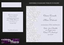 PARTECIPAZIONI PERSONALIZZATE MATRIMONIO INVITI NOZZE SPOSA LILLA SHABBY CHIC