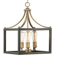 Home Decorators Boswell Quarter 3-Light Vintage Brass Chandelier
