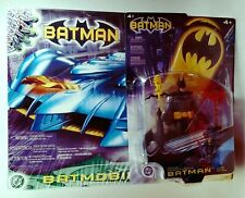 "2003 Mattel DC Batman 20"" Batmobile Detachable Robin Motorcycle + Bonus Figure"