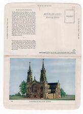 Sanctuaire STE-ANNE-DE-BEAUPRÉ Quebec Canada Folkard Foldout Postcard 52