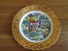 "Vintage Crown O Gold Tennessee Souvenir Plate ""Crown O Gold"" 22K Gold Border 9""D"