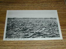 Log Jam on the Mississauga Near Blind River Ontario Canada Postcard