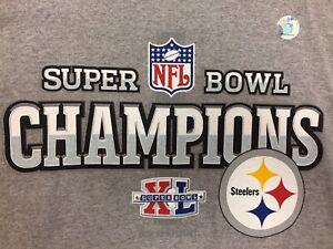 New nfl Reebok Pittsburgh Steelers Super Bowl Champs t-shirt size XXL Tee SB 49