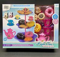 NEW CHILD's TEA Play Pretend SET W/ Pastries & Tower 34 Pieces Fun Christmas Toy