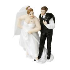 Tortenfigur Brautpaar mit molliger Braut - Hochzeitsdeko
