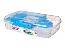 Sistema Bento Caja 1.76l,azul Porciones Alimentación Saludable trabajo y escuela