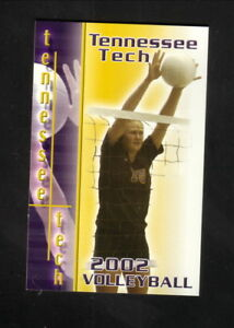 Tennessee Tech Golden Eagles--2002 Volleyball Pocket Schedule
