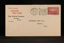 New Hampshire: Concord 1909 #372 Page Crown Belting Company Advertising Cover