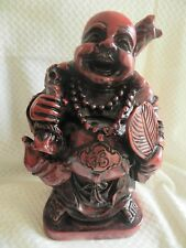 """8.0"""" Tall Chinese Style Happy Giant Laughing Buddha Statue RED/BLACK"""