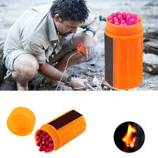 Outdoor Stormproof Windproof Waterproof Matches Kit Orange Case 20 Matches AL