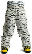 SOUTH PLAY Mens Good Quality Ski Snowboard Waterproof Snow Pants Trousers DESERT