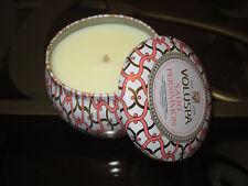 Voluspa Maison Blanc SAIJO PERSIMMON Mini Tin Candle 4oz Juicy Peach Red Currant