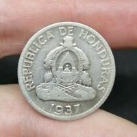 Republic Of Honduras Silver 50 Centavos 1937 Good Coin