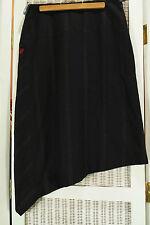 TED BAKER Asymmetrical Skirt Ted Size 2 (S, UK10) Edgy Work Wear Pinstripe Skirt