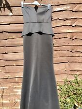 Fabulous Asos Full Length Fitted With Stretch Peplum Mermaid Style Black Dress