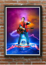BACK TO THE FUTURE Marty McFly A4 Poster Print Vintage Movie Poster Retro 90s