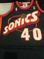 MITCHELL   NESS AUTHENTIC SHAWN KEMP SIZE 44 L SEATTLE SUPERSONICS JERSEY  NBA 7ac7a6165