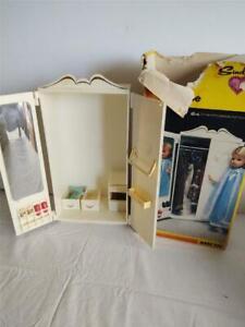 Vintage 1978 Marx Sindy Doll Furniture Wardrobe Bedroom in Original Box