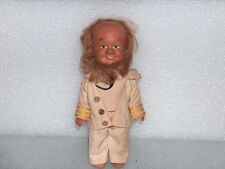 Vintage Cute Rubber Captain Toy Doll In Original Costume, Germany - Gdr, 1960-70