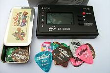 ELECTRIC, ACOUSTIC or BASS - GUITAR TUNER + 24 Picks !