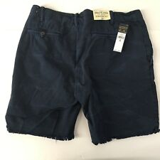 Polo Ralph Lauren Mens Straight Fit Cutoff Cotton Navy Shorts Size 34 NWT