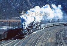 8x12 Photo Strasburg Steam 90, CP 127 Steam Special Jim Thorpe, Pa 3-68