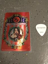 New listing Pat Smear Foo Fighters rare backstage pass and stage-used guitar pick plectrum