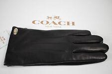 NWT COACH 6.5 Women's Black 100% Leather/Merino Wool Lined BASIC Glove Gift Box