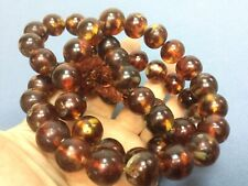 Natural Baltic Honey Amber 54 PRAYER BEADS Big Rosary Transparent Muddy 214 gr