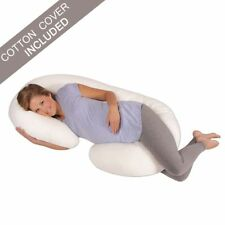 Pregnancy Pillow Maternity Belly Contoured Body C Shape Extra Comfort White