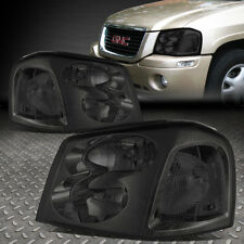 FOR 2002-2009 GMC ENVOY PAIR SMOKED HOUSING CLEAR CORNER BUMPER HEADLIGHT/LAMP