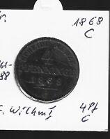 4 Pfennige 1868 C Preußen in vorzüglich
