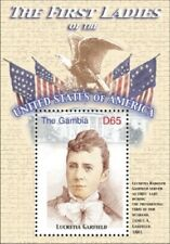 GAMBIA FIRST LADIES OF THE UNITED STATES - LUCRETIA GARFIELD S/S MNH