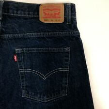 Levi's 550 Jeans Youth Boys Size 12 Husky 32x27 Relaxed Dark Wash Blue Denim