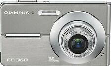 Olympus FE360 8MP Digital Camera with 3x Optical Dual Zoom(Silver) + accessories