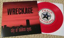"WRECKAGE - CITY OF SUNKEN EYES 7"" RED WAX (1ST PRESSING OF 300) SXE NYHC PUNK"