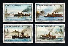 1989 TURKEY  STEAM SHIPS  COMPLETE  SET MNH**