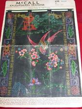 1939 EXTREMELY RARE ~ McCALL #698-CHINESE DESIGN WALL HANGING TRANSFER PATTERNuc