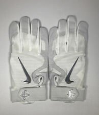 Men's Nike Huarache Elite Batting Glove All White XL New