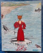 Genesis Peter Gabriel Foxtrot - Olio su tela 24x30 oil on canvas esemplare unico