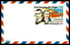 USA - STATI UNITI - Aerogramma - 1981 - The first Transpacific Flight 1931 - 28c