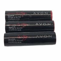 Lot of 3 AVON Extra Lasting Lipstick ENDLESS RED - New/Sealed