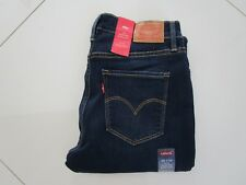 Levi's 314 Ladies Vintage Blue Mid Rise Shaping Straight Stretch Jeans  Size 28