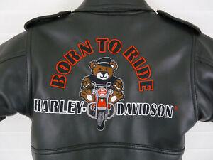 Harley Davidson Toddler Faux Black Leather Jacket 18M