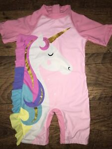 Girls Unicorn All In One Swimsuit