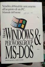 manuale microsoft windows e ms dos guida pratica anno 1995