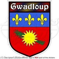 GUADALOUPA Bouclier Guadeloupe Adhésif  En Vinyle Stickers Autocollant 100mm